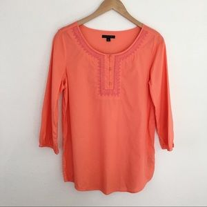 Tommy Hilfiger embroidered pink tunic blouse S